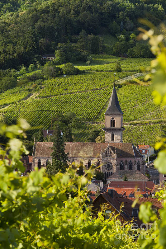 Ribeauville Print featuring the photograph Alsace Church by Brian Jannsen