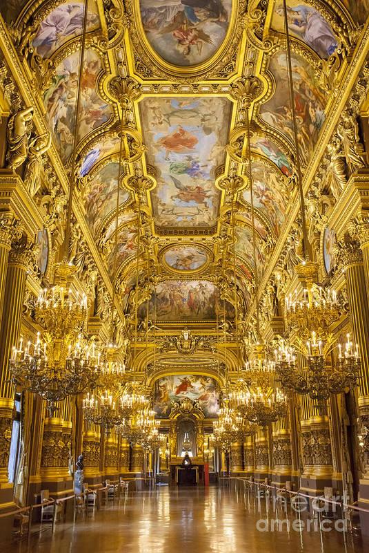 Architectural Print featuring the photograph Palais Garnier Interior by Brian Jannsen