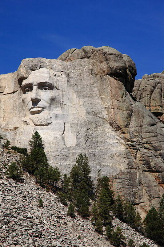 Abe Print featuring the photograph Mount Rushmore by Frank Romeo
