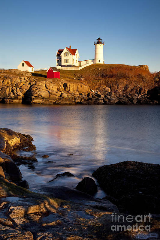 Nubble Print featuring the photograph Nubble Lighthouse by Brian Jannsen