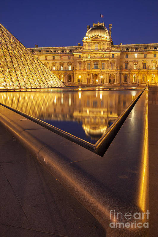 Architectural Print featuring the photograph Musee Du Louvre by Brian Jannsen