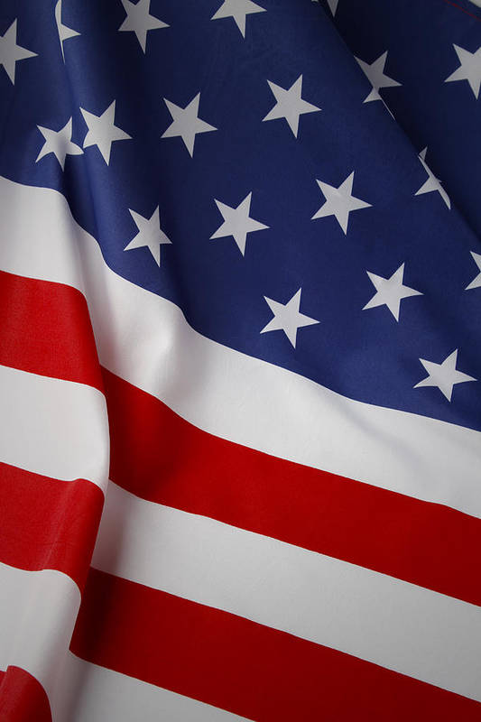 Flag Print featuring the photograph Usa Flag by Les Cunliffe