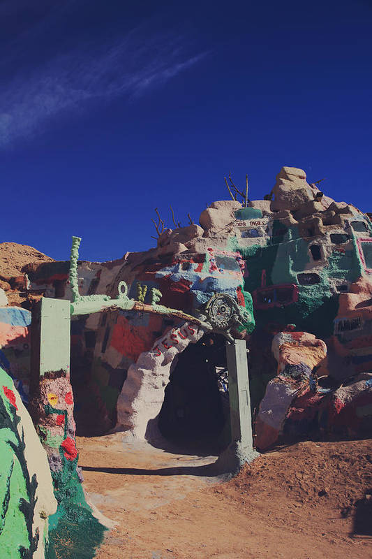 Salvation Mountain Print featuring the photograph A Loving Entrance by Laurie Search