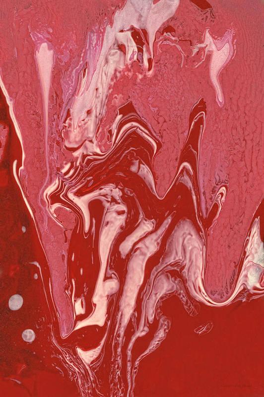 Abstract Print featuring the painting Abstract - Nail Polish - Tongue by Mike Savad