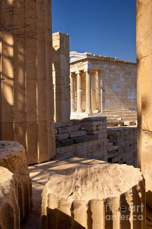 Acropolis Print featuring the photograph Acropolis Temple by Brian Jannsen