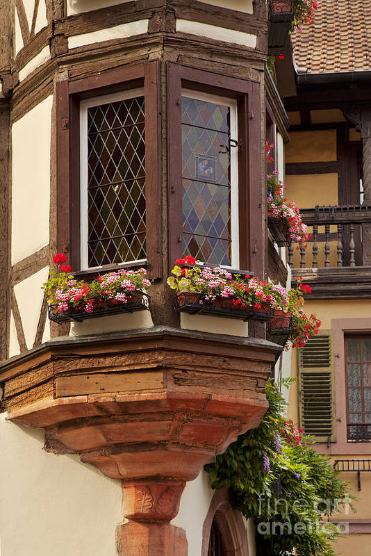 Kaysersberg Print featuring the photograph Alsace Window by Brian Jannsen