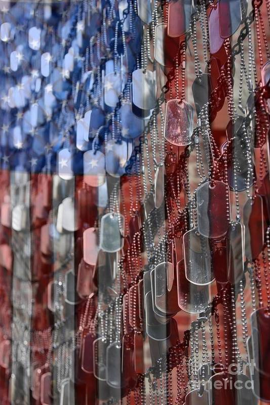 Patriotic Print featuring the photograph American Sacrifice by DJ Florek