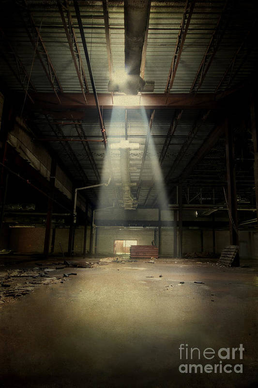 Abandoned Print featuring the photograph Beam Me Up by Evelina Kremsdorf