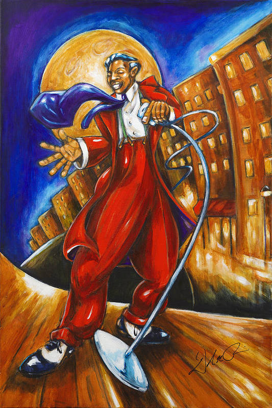 African-american Art Print featuring the painting Boardwalk by Daryl Price