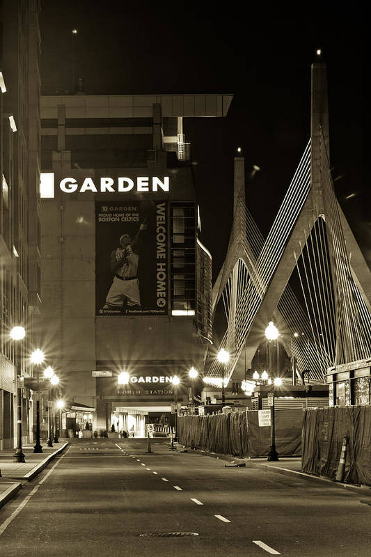 Boston Print featuring the photograph Boston Garder And Side Street by John McGraw