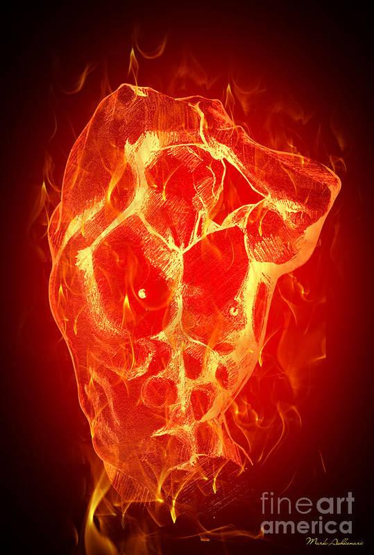 Burning Up Print By Mark Ashkenazi