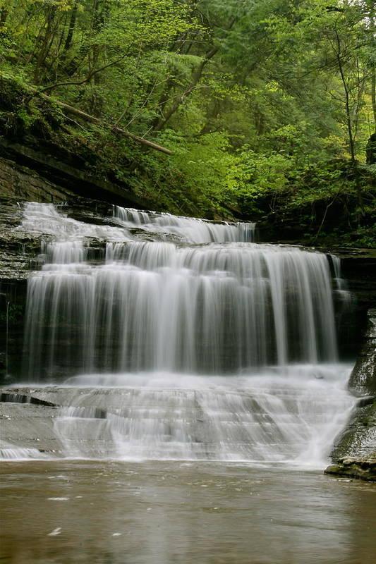 Buttermilk Falls Print featuring the photograph Buttermilk Falls by Judd Connor