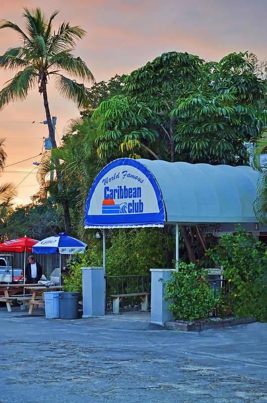 Caribbean Club Key Largo Print featuring the photograph Caribbean Club Key Largo by Chris Thaxter