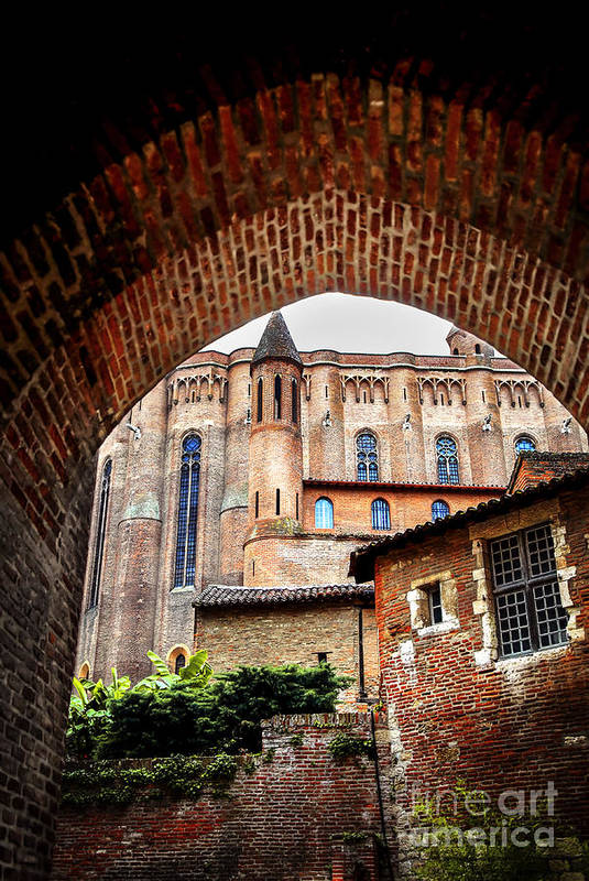 Albi Print featuring the photograph Cathedral Of Ste-cecile In Albi France by Elena Elisseeva