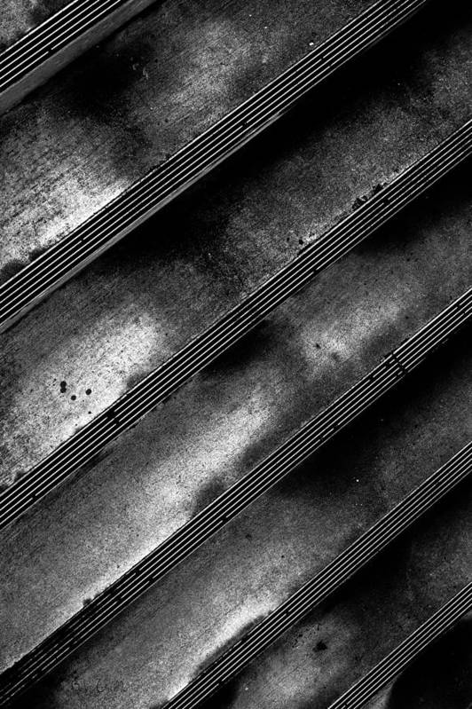 Step Print featuring the photograph Cement Steps Number Two by Bob Orsillo