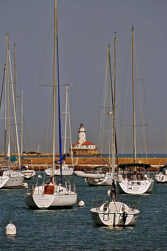 Chicago Print featuring the photograph Chicago Harbor Lighthouse Illinois by Christine Till