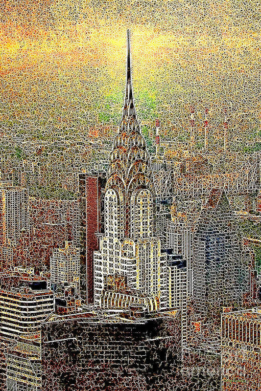 Chrysler Building Print featuring the photograph Chrysler Building New York City 20130425 by Wingsdomain Art and Photography