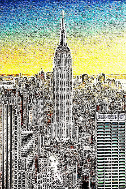 Empire State Building Print featuring the photograph Empire State Building New York City 20130425 by Wingsdomain Art and Photography