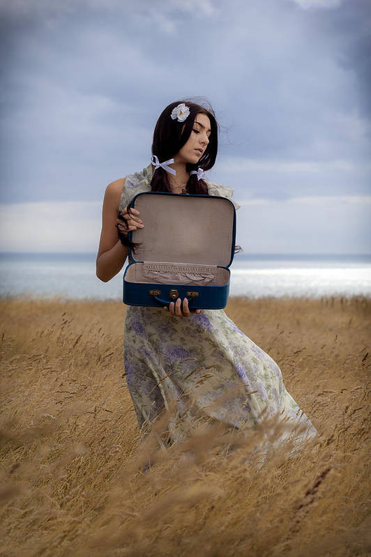 Girl Print featuring the photograph Empty Suitcase by Joana Kruse