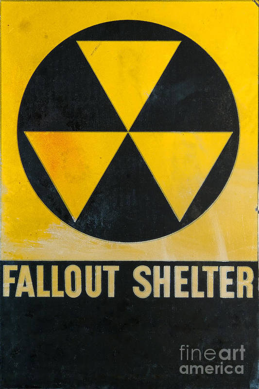 Fallout Shelter Print featuring the photograph Fallout Shelter by Olivier Le Queinec