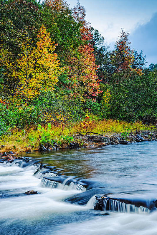 Fall Colors Print featuring the photograph Foretelling Of A Storm Beaver's Bend Broken Bow Fall Foliage by Silvio Ligutti