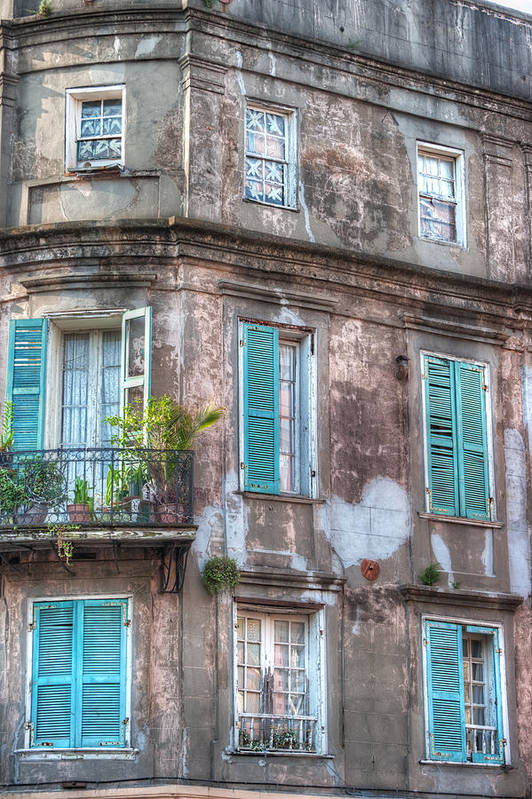 Windows Print featuring the photograph French Quarter Landmark by Brenda Bryant