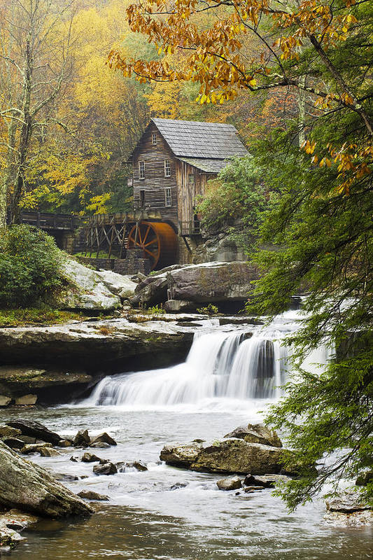 Mill Print featuring the photograph Grist Mill No. 2 by Harry H Hicklin