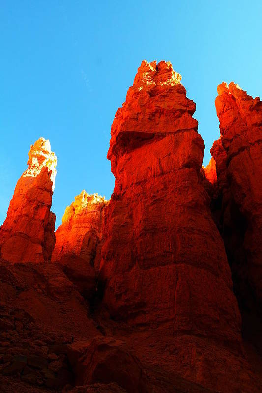 Rocks Print featuring the photograph In Shadows Where The Gods Wander by Jeff Swan