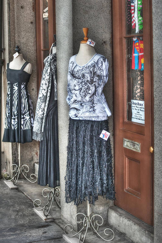 Jackson Square Print featuring the photograph Jackson Square Fashion by Brenda Bryant