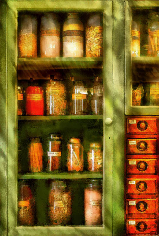 Savad Print featuring the digital art Jars - Ingredients II by Mike Savad