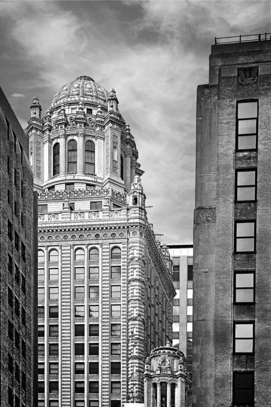 Jewelers Print featuring the photograph Jewelers' Building - 35 East Wacker Chicago by Christine Till