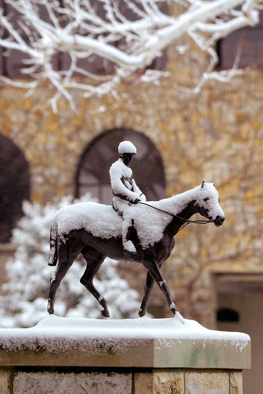 Horses Print featuring the photograph Keeneland In Winter by Sid Webb