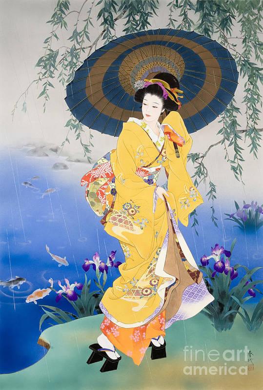Haruyo Morita Print featuring the digital art Koi by Haruyo Morita