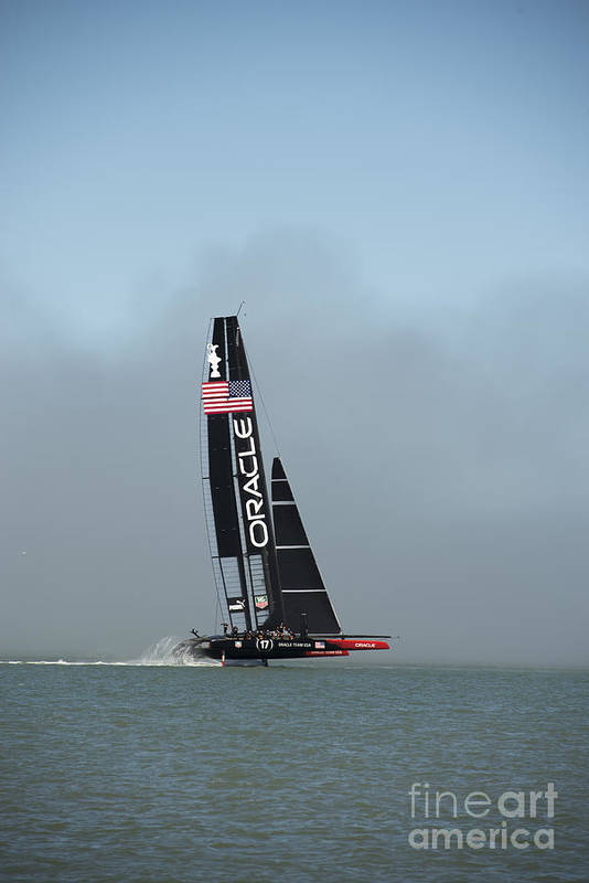 Team Oracle Print featuring the photograph L I F T O F F -- U S A  Wins by David Bearden
