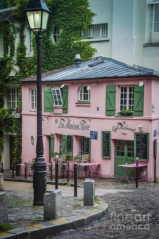 La maison rose print by brian jannsen for Eugenie les bains la maison rose