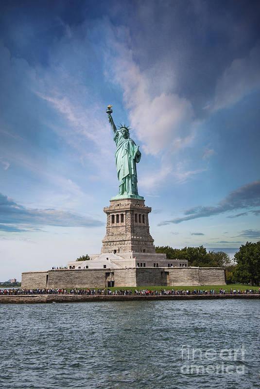 America Print featuring the photograph Lady Liberty by Juli Scalzi