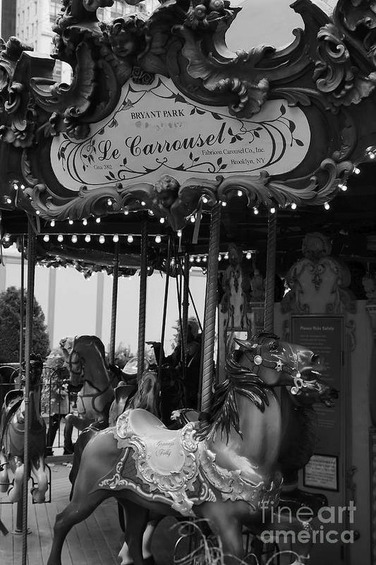 New York City Print featuring the photograph Le Carrousel by David Rucker