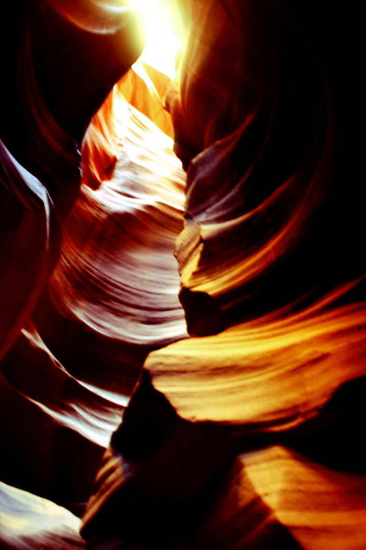 Antelope Canyon Print featuring the photograph Light From Above - Canyon Abstract by Aidan Moran