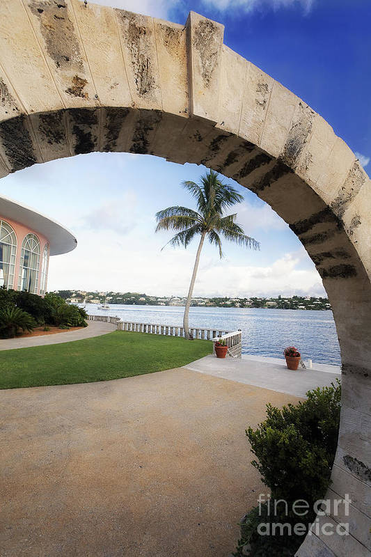 Arch Print featuring the photograph Moon Gate In Bermuda by George Oze