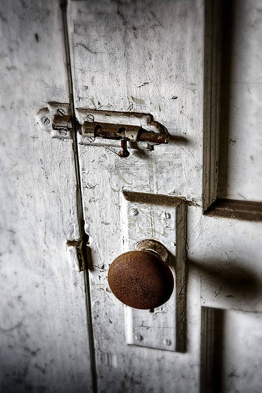 Doorknob Print featuring the photograph Mystery Door by Caitlyn Grasso