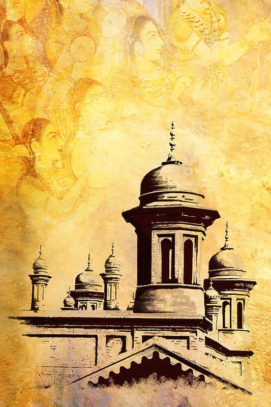 Pakistan Print featuring the painting National College Of Arts Lahore by Catf