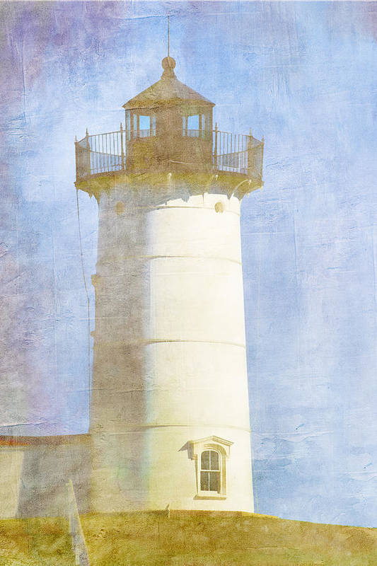 Light Print featuring the photograph Nubble Lighthouse by Carol Leigh