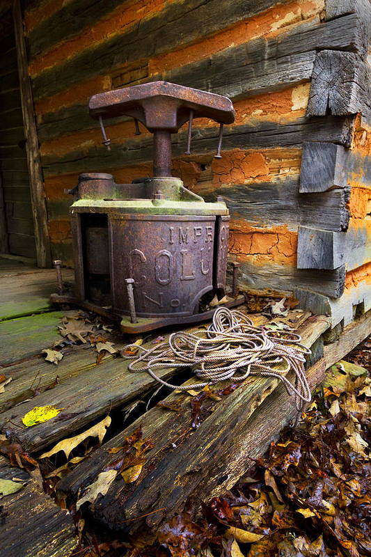 Appalachia Print featuring the photograph Old Sorghum Press by Debra and Dave Vanderlaan