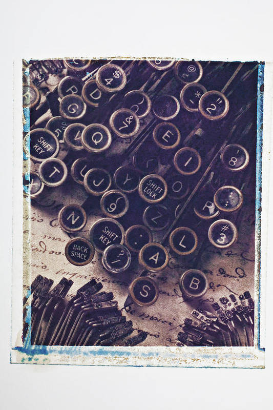 Old Typewriter Print featuring the photograph Old Typewriter Keys by Garry Gay