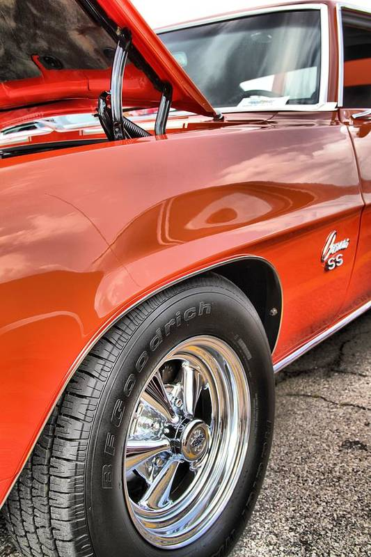 Orange Chevelle Ss 396 Print featuring the photograph Orange Chevelle Ss 396 by Dan Sproul