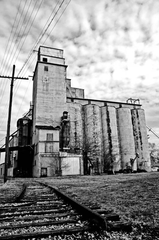 Silos Print featuring the photograph Outskirts Of Town by Off The Beaten Path Photography - Andrew Alexander