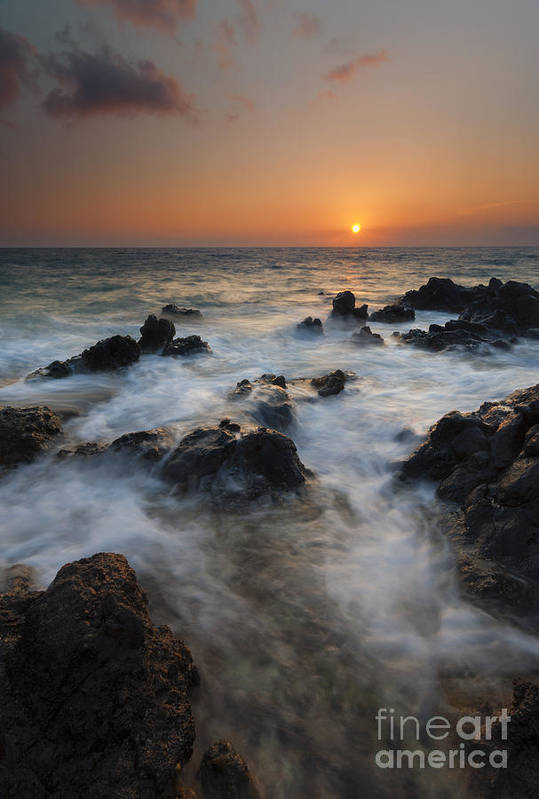 Maui Print featuring the photograph Paradise Flow by Mike Dawson