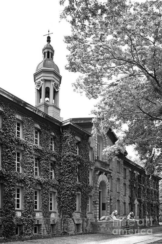 Ivy League Print featuring the photograph Princeton University Nassau Hall by University Icons