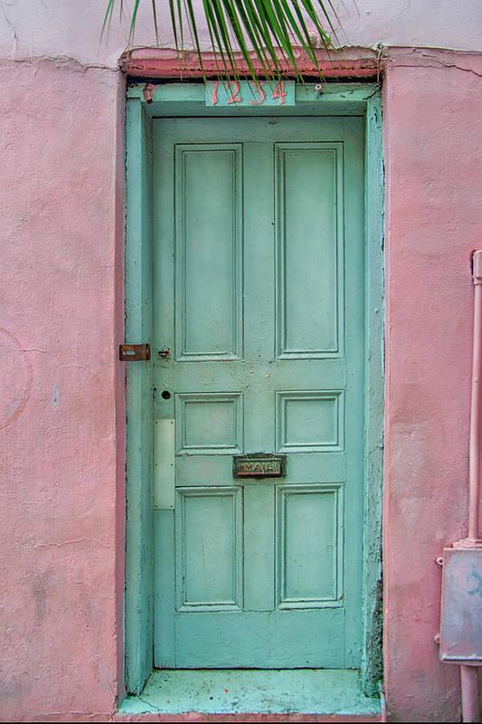 Door Print featuring the photograph Quaint Little Door In The Quarter by Brenda Bryant