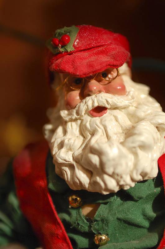 Santa Claus Print featuring the photograph Santa Claus - Antique Ornament - 16 by Jill Reger